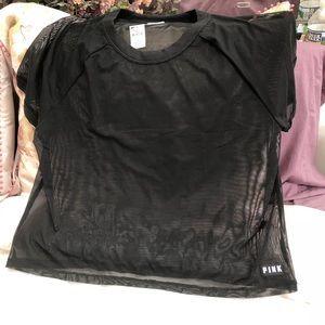 Victoria Secret pink mesh top